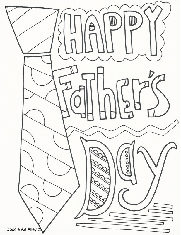 Best ideas about Fathers Day Coloring Pages For Kids . Save or Pin Holiday Coloring Pages Doodle Art Alley Now.