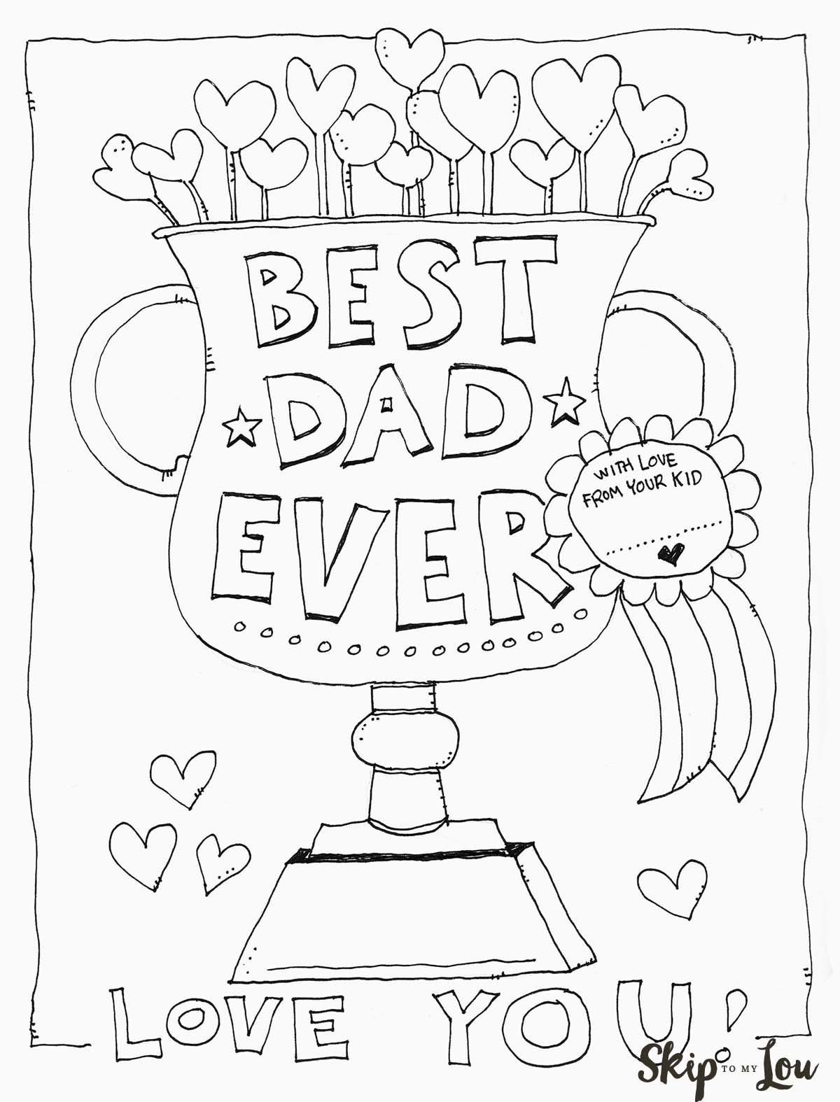 Best ideas about Fathers Day Coloring Pages For Kids . Save or Pin Dad Coloring Page Father s Day Now.