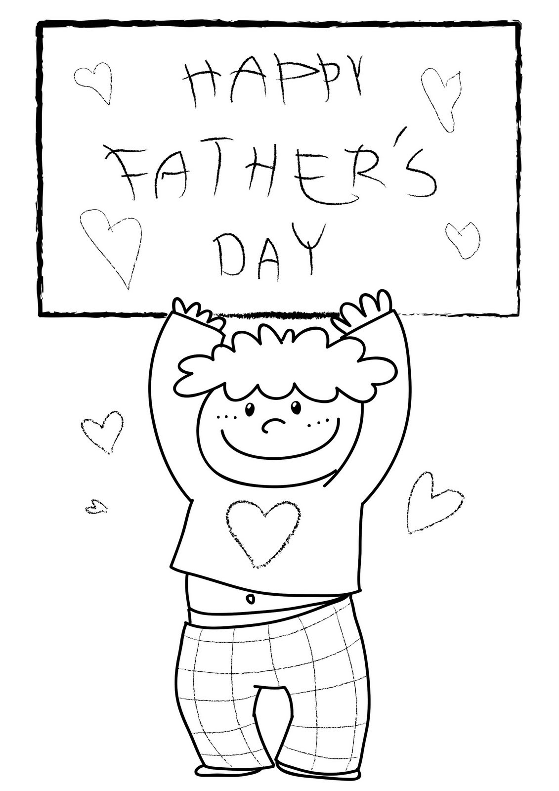 Best ideas about Fathers Day Coloring Pages For Kids . Save or Pin Father´s Day Coloring Child Coloring Now.