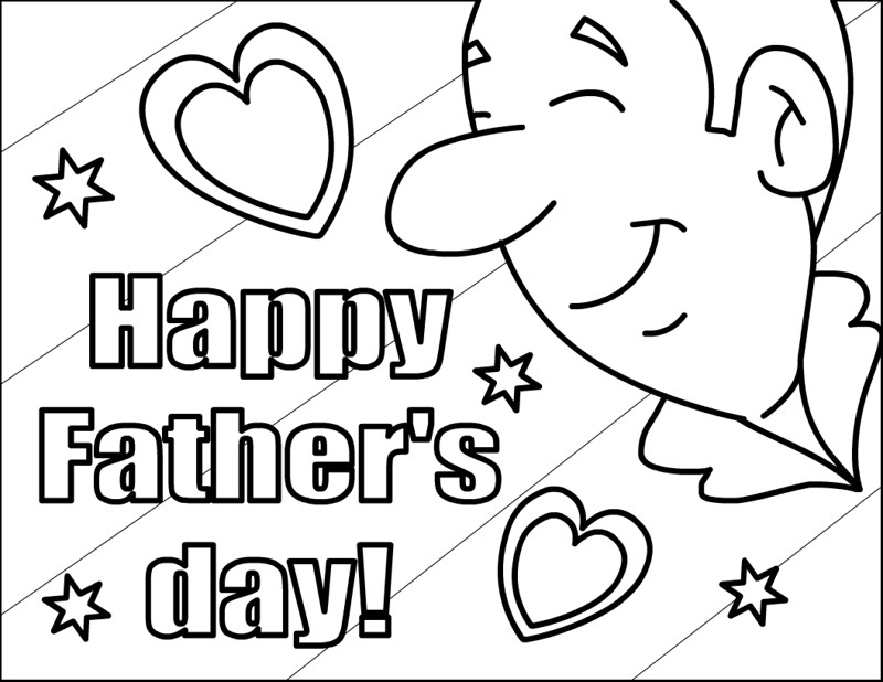 Best ideas about Fathers Day Coloring Pages For Kids . Save or Pin Free Printable Happy Fathers Day Coloring Pages Now.