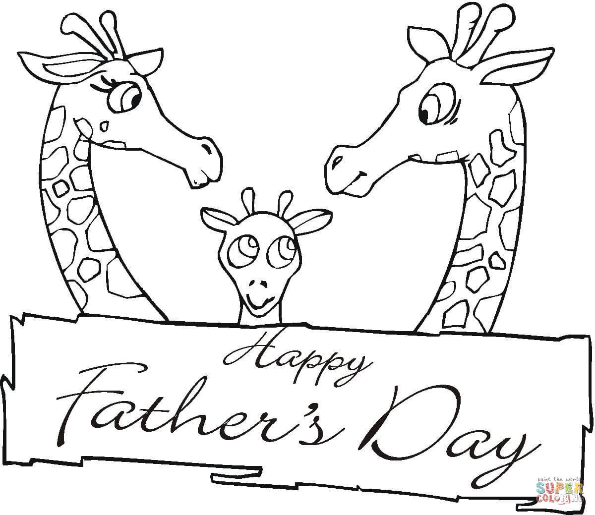 Best ideas about Fathers Day Coloring Pages For Kids . Save or Pin Giraffes To her Father s Day coloring page Now.