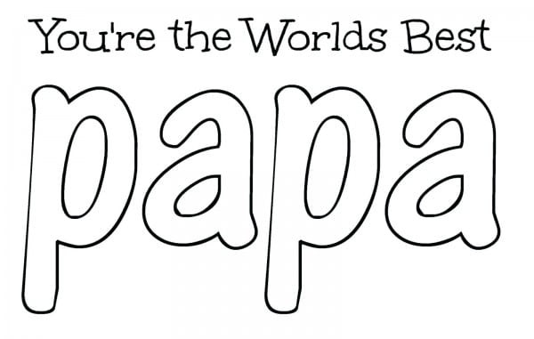 Best ideas about Fathers Day Coloring Sheets For Kids That Said Papi . Save or Pin Papa Coloring Pages Now.