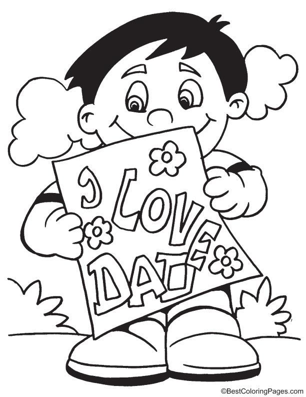 Best ideas about Fathers Day Coloring Sheets For Kids That Said Papi . Save or Pin Fathers day card coloring page Now.