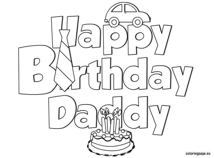 Best ideas about Fathers Day Coloring Sheets For Kids That Said Papi . Save or Pin Happy Birthday Daddy coloring Birthday Now.