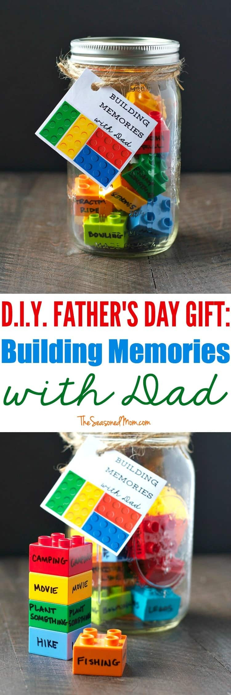 Best ideas about Fathers Day Gift DIY . Save or Pin DIY Father s Day Gift Building Memories with Dad The Now.