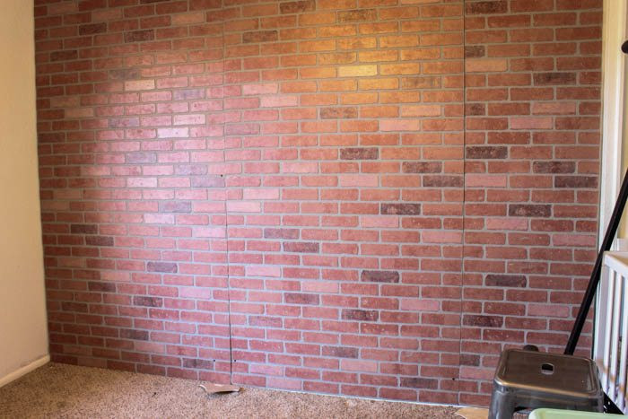 Best ideas about Faux Brick Wall DIY . Save or Pin DIY Faux Brick Wall Indoor Accent Wall Classy Clutter Now.