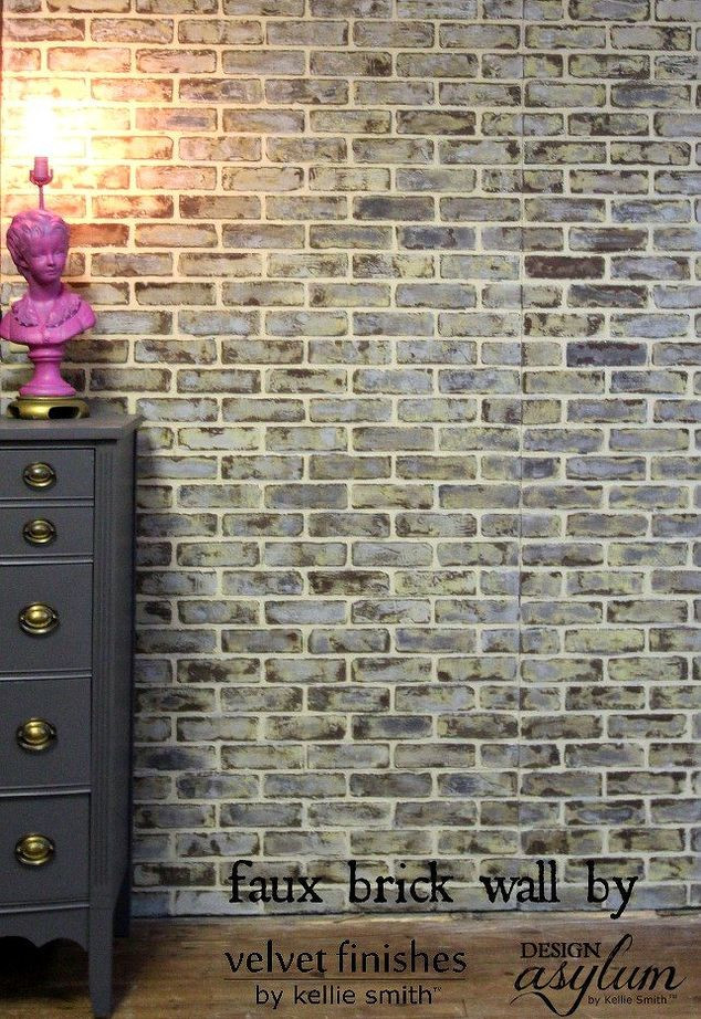 Best ideas about Faux Brick Wall DIY . Save or Pin DIY Making Faux Brick Walls Look Old Now.