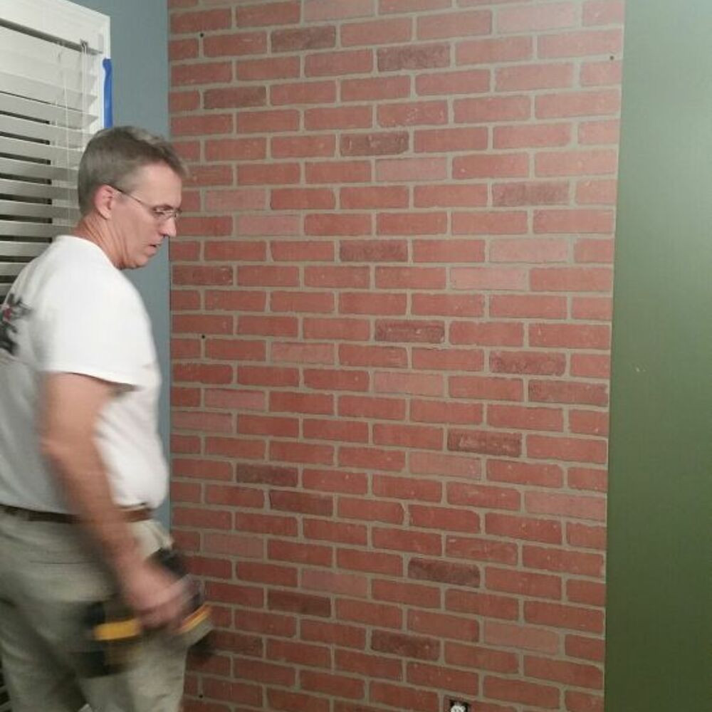 Best ideas about Faux Brick Wall DIY . Save or Pin Faux Brick Wall Now.