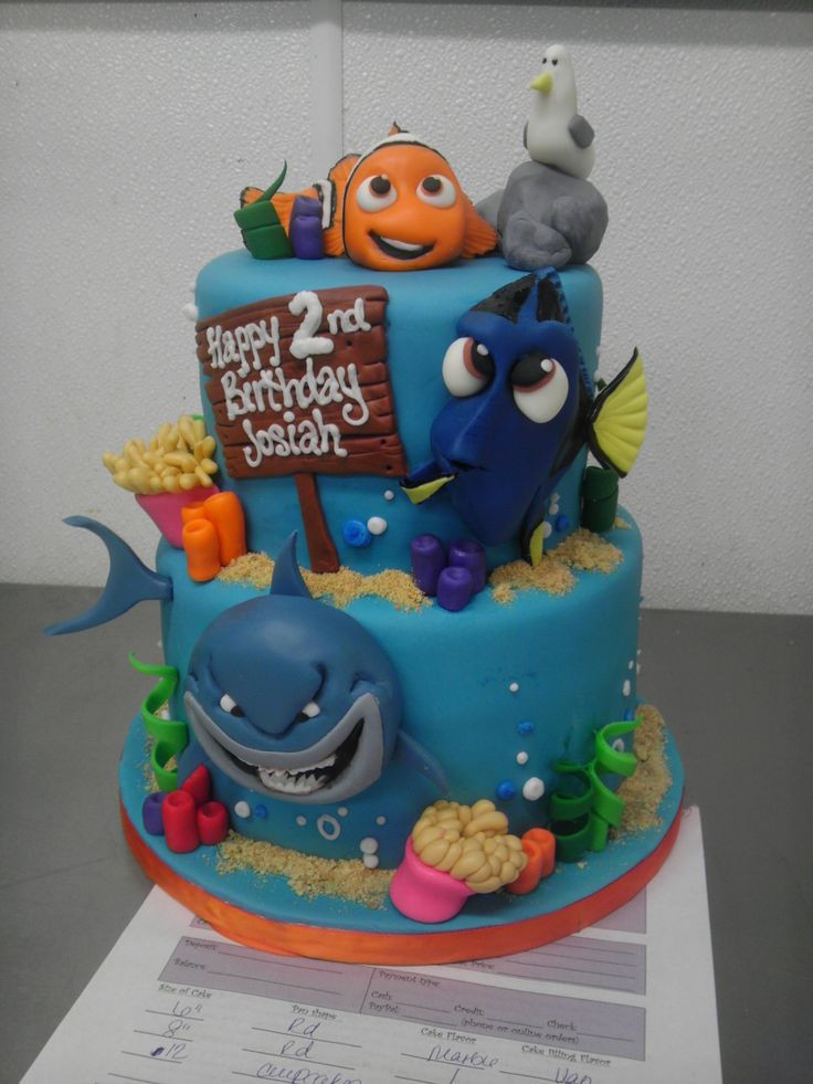 Best ideas about Finding Dory Birthday Cake . Save or Pin Finding Nemo Cake Cakes Pinterest Now.