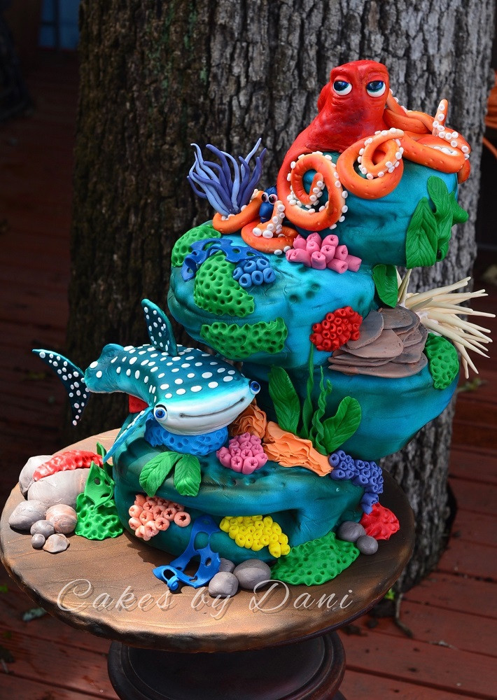 Best ideas about Finding Dory Birthday Cake . Save or Pin Finding Dory Cake Cookie and Cupcake Ideas Now.