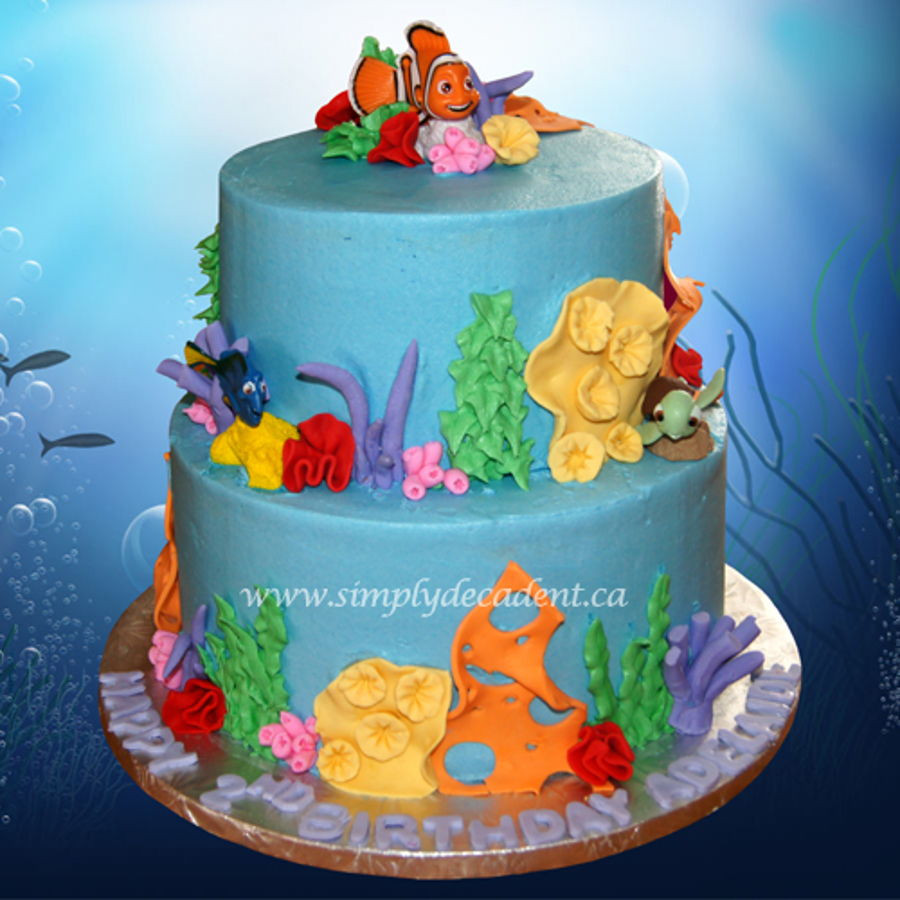 Best ideas about Finding Dory Birthday Cake . Save or Pin Finding Dory Finding Nemo Theme Birthday Cake Now.