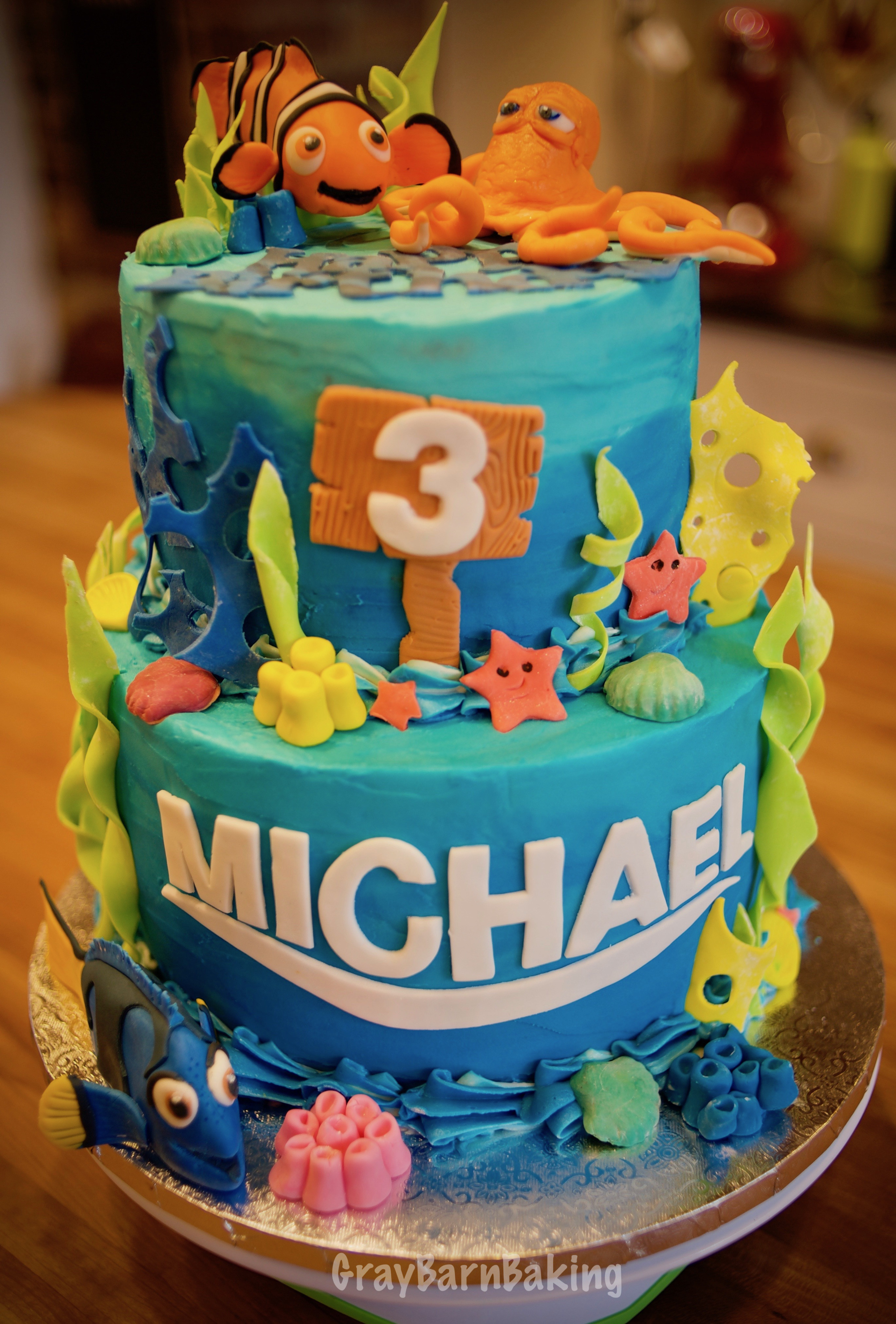 """Best ideas about Finding Dory Birthday Cake . Save or Pin """"Finding Dory"""" Nemo Cake Now."""