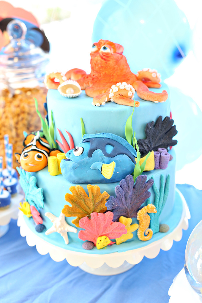 Best ideas about Finding Dory Birthday Cake . Save or Pin Party Finding Dory Ocean Birthday Party See Vanessa Craft Now.