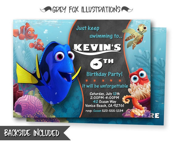 Best ideas about Finding Dory Birthday Invitations . Save or Pin Finding Dory Invitation Finding Dory Birthday Invitation Now.