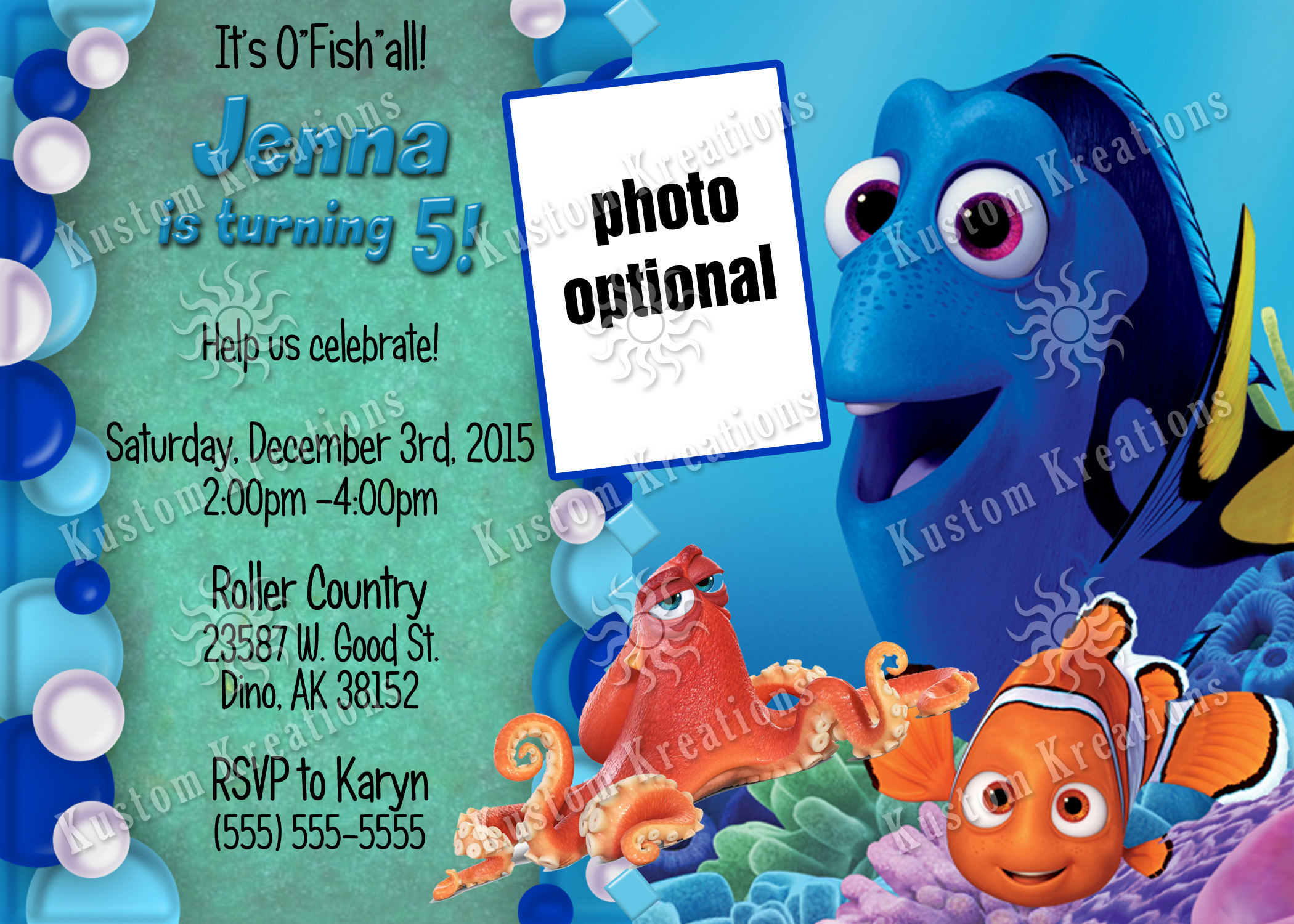 Best ideas about Finding Dory Birthday Invitations . Save or Pin Finding Dory Birthday Invitations Now.