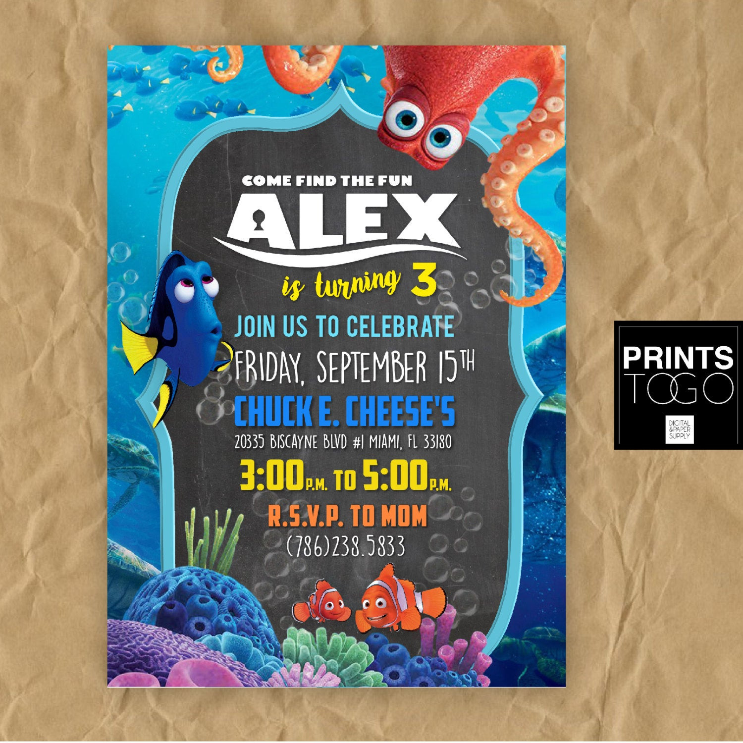 Best ideas about Finding Dory Birthday Invitations . Save or Pin Finding Dory Birthday Invitation Dory Birthday Party Finding Now.