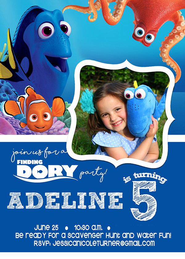 Best ideas about Finding Dory Birthday Invitations . Save or Pin Finding Dory Party Activities Decorations & More The Now.