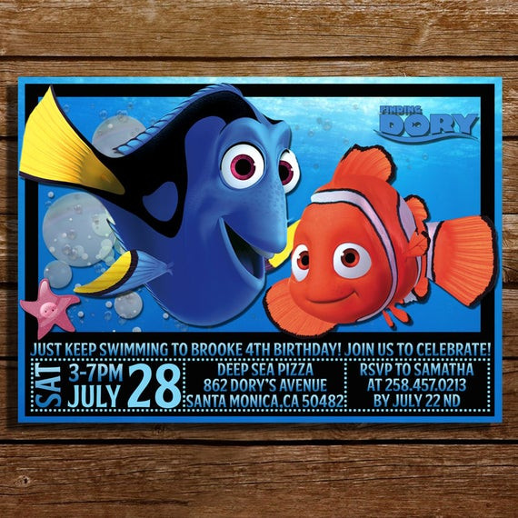 Best ideas about Finding Dory Birthday Invitations . Save or Pin Finding Dory Birthday Invitation Finding Dory by Now.