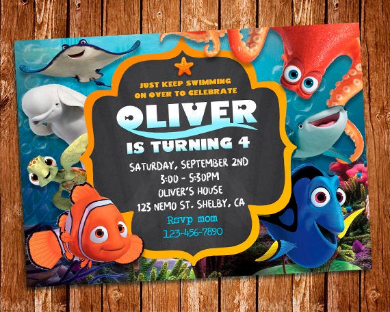 Best ideas about Finding Dory Birthday Invitations . Save or Pin Finding Dory Invitation Finding Dory Invite Finding Nemo Now.