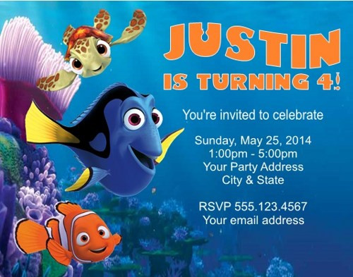 Best ideas about Finding Dory Birthday Invitations . Save or Pin FREE Printable Finding Dory Invitations Ideas Now.