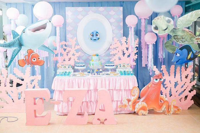 Best ideas about Finding Dory Birthday Party Ideas . Save or Pin Kara s Party Ideas Finding Dory Birthday Pool Party Now.