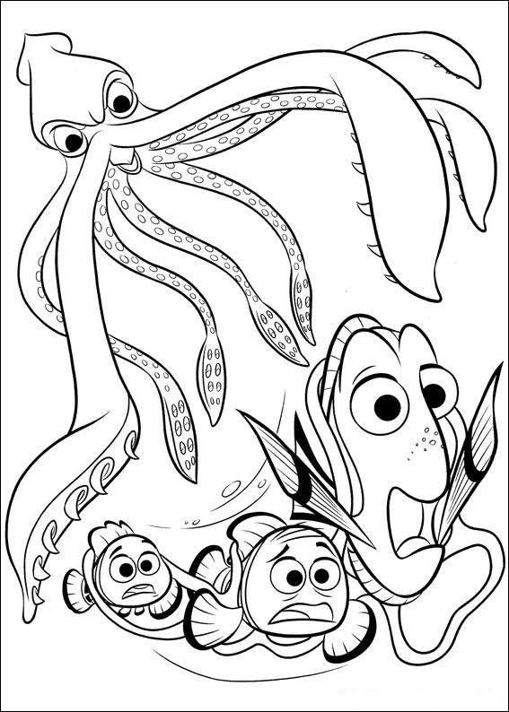 Best ideas about Finding Dory Printable Coloring Pages . Save or Pin Finding Dory coloring pages to and print for free Now.