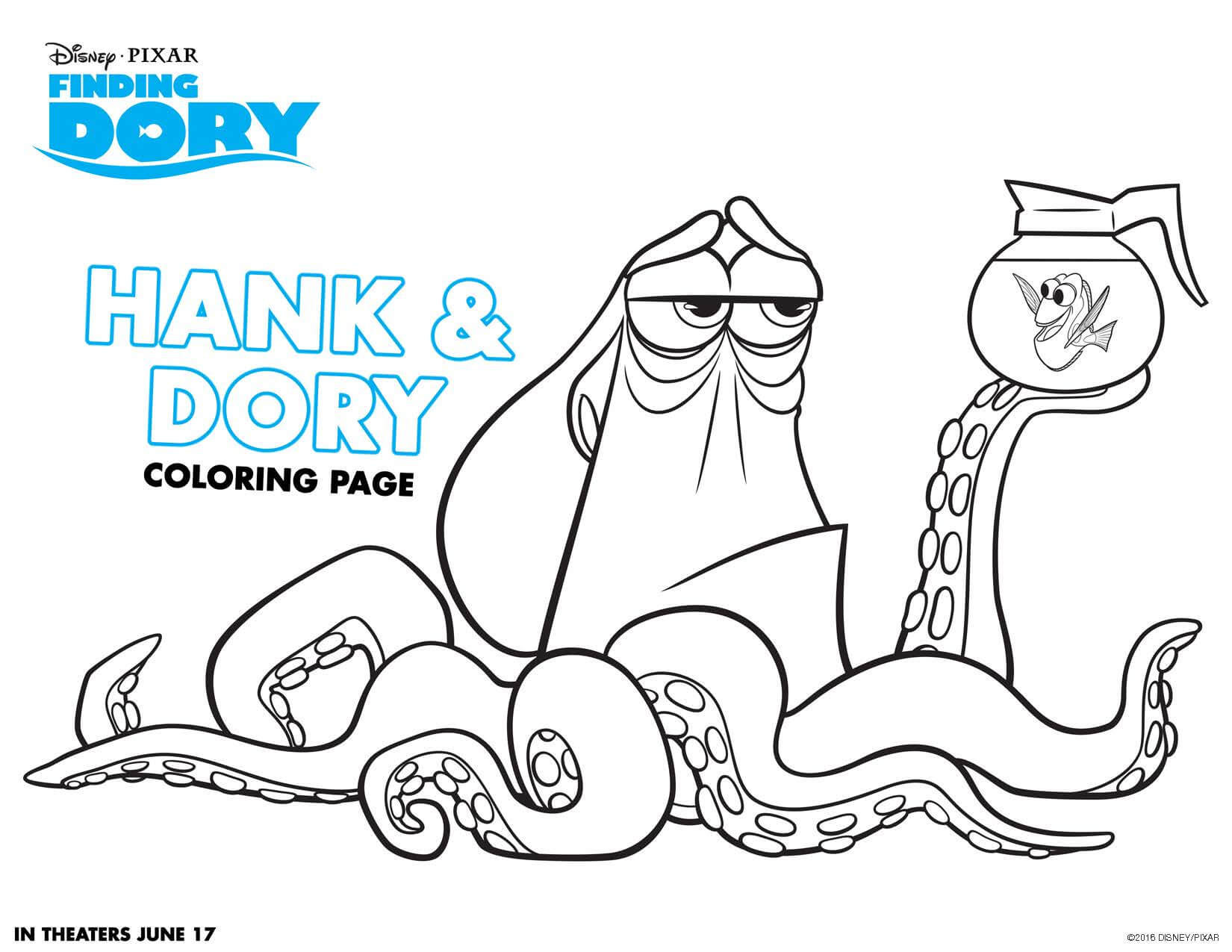 Best ideas about Finding Dory Printable Coloring Pages . Save or Pin Finding Dory coloring sheets Highlights Along the Way Now.