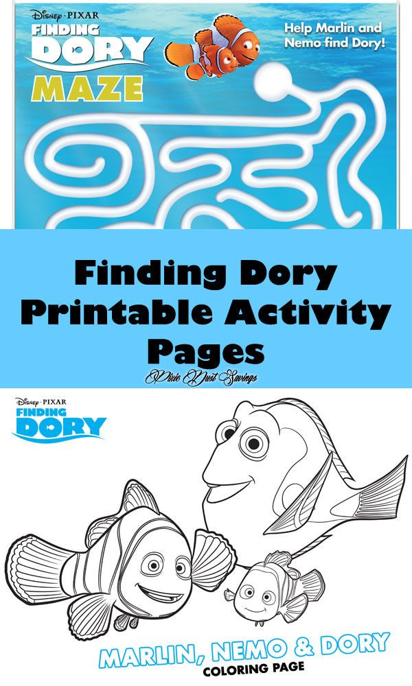 Best ideas about Finding Dory Printable Coloring Pages . Save or Pin Finding Dory Printable Activity Pages Now.