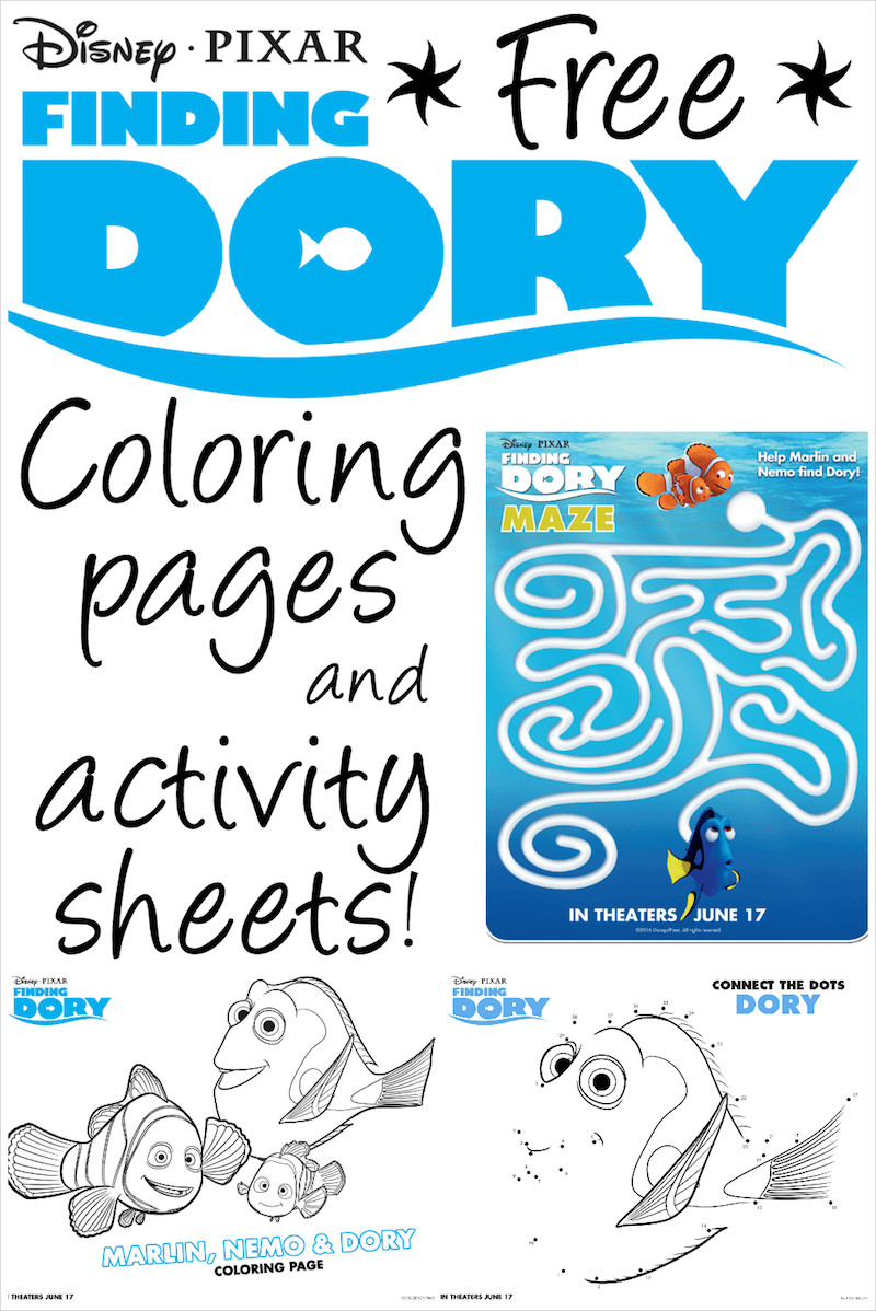 Best ideas about Finding Dory Printable Coloring Pages . Save or Pin Finding Dory Printable Coloring Pages and Activity Sheets Now.