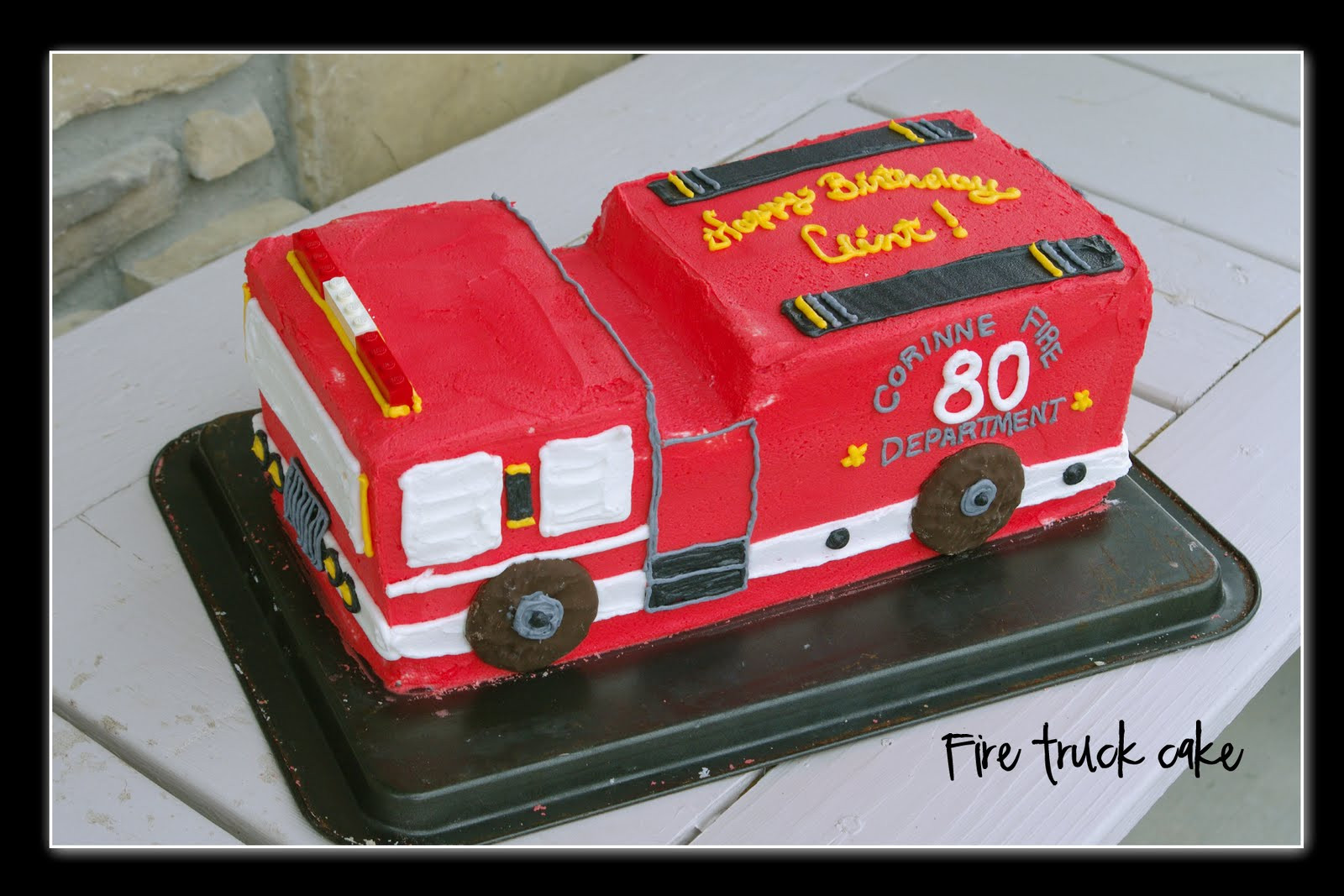 Best ideas about Fire Truck Birthday Cake . Save or Pin Nan s Recipe Spot Fire Truck Birthday Cake Now.
