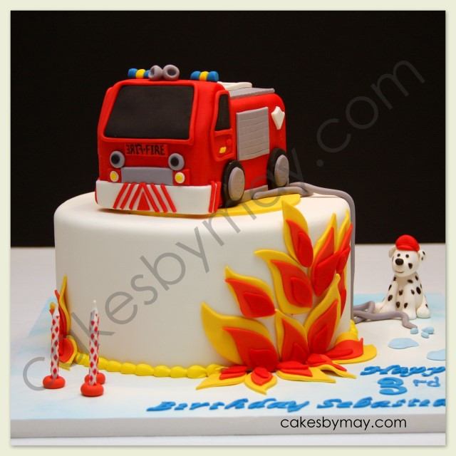 Best ideas about Fire Truck Birthday Cake . Save or Pin Cakes by Maylene Fire Engine Birthday Cake Now.