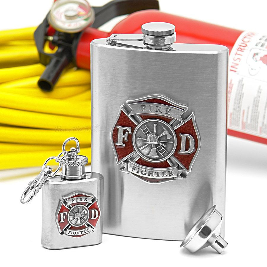 Best ideas about Fireman Gift Ideas . Save or Pin Firefighter Flask Gift Set d by LION Now.