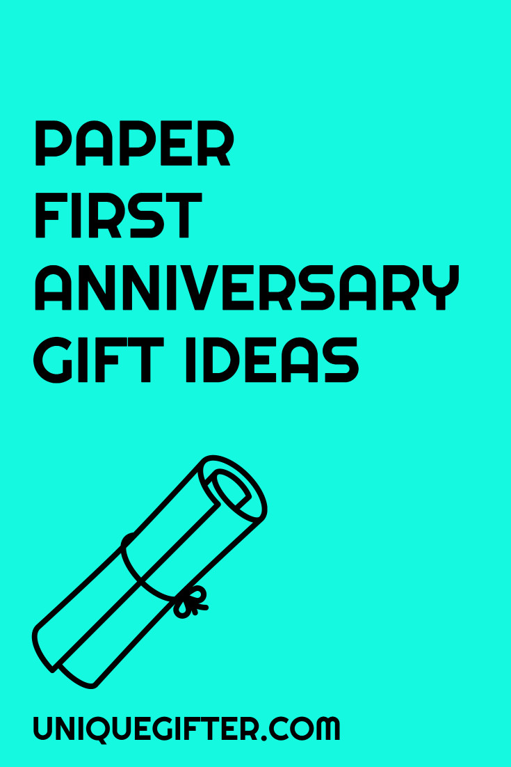 Best ideas about First Anniversary Gift Ideas For Wife . Save or Pin First Year Anniversary Gift Ideas Unique Gifter Now.