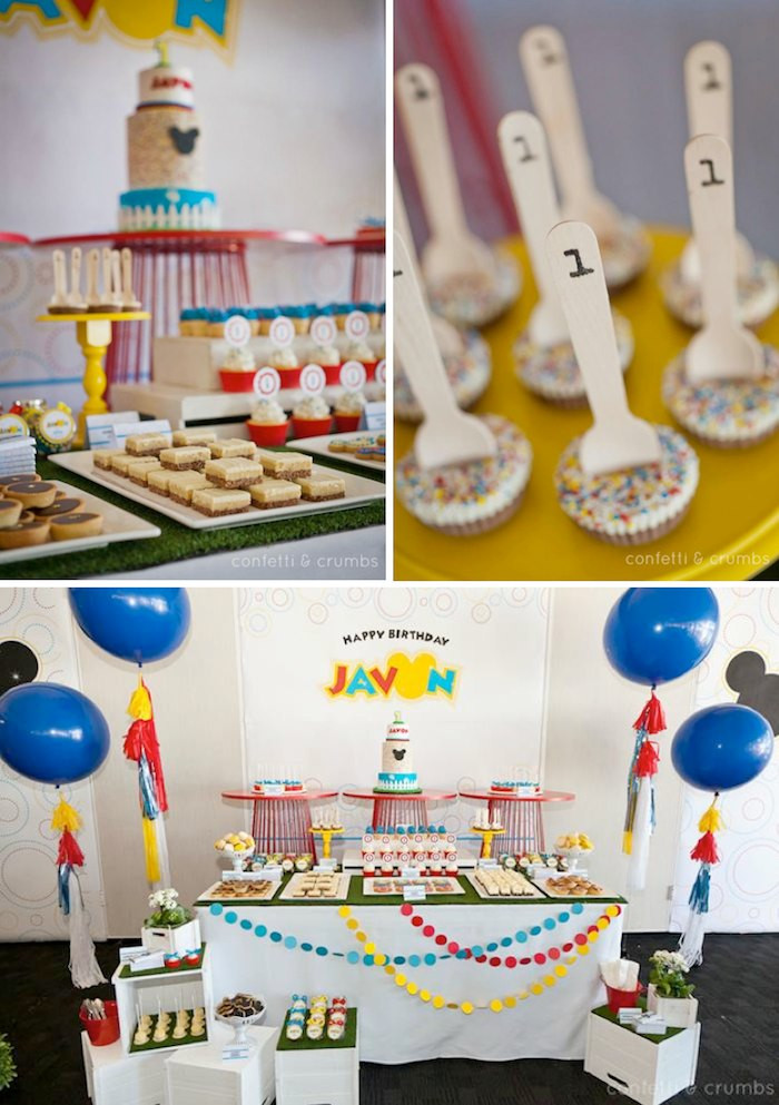 Best ideas about First Birthday Boy Ideas . Save or Pin Kara s Party Ideas Mickey Mouse 1st Birthday Boy Disney Now.
