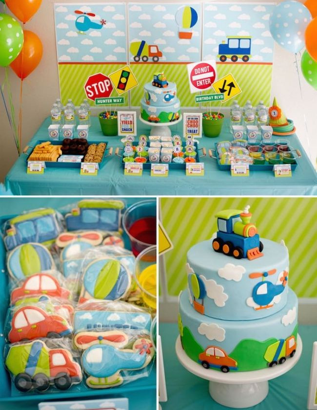 Best ideas about First Birthday Boy Ideas . Save or Pin Boy s Transportation Themed Birthday Party Now.