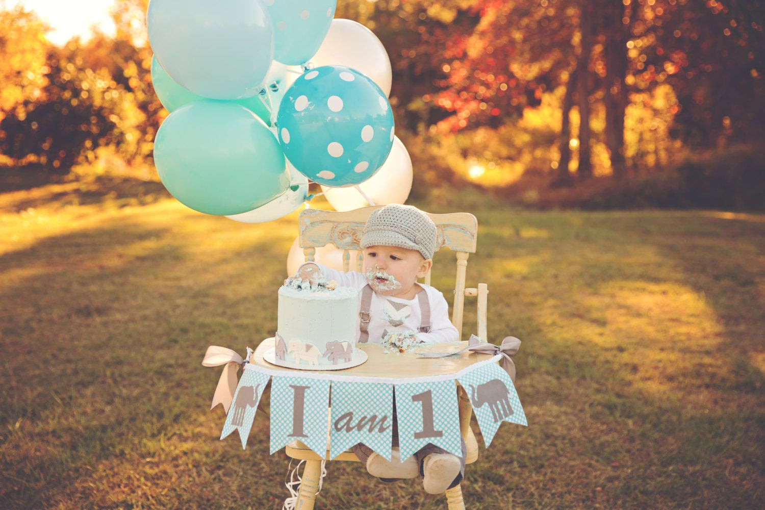 Best ideas about First Birthday Decorations Boys . Save or Pin 1st Birthday Boy I AM ONE Highchair Banner I am 1 High Now.