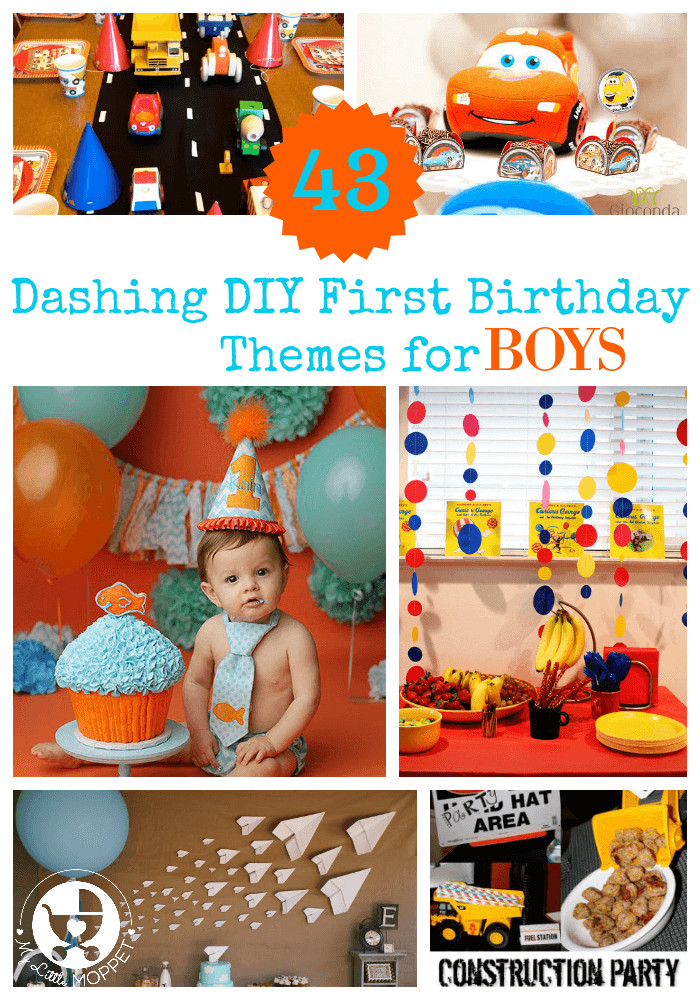 Best ideas about First Birthday Decorations Boys . Save or Pin 43 Dashing DIY Boy First Birthday Themes Now.