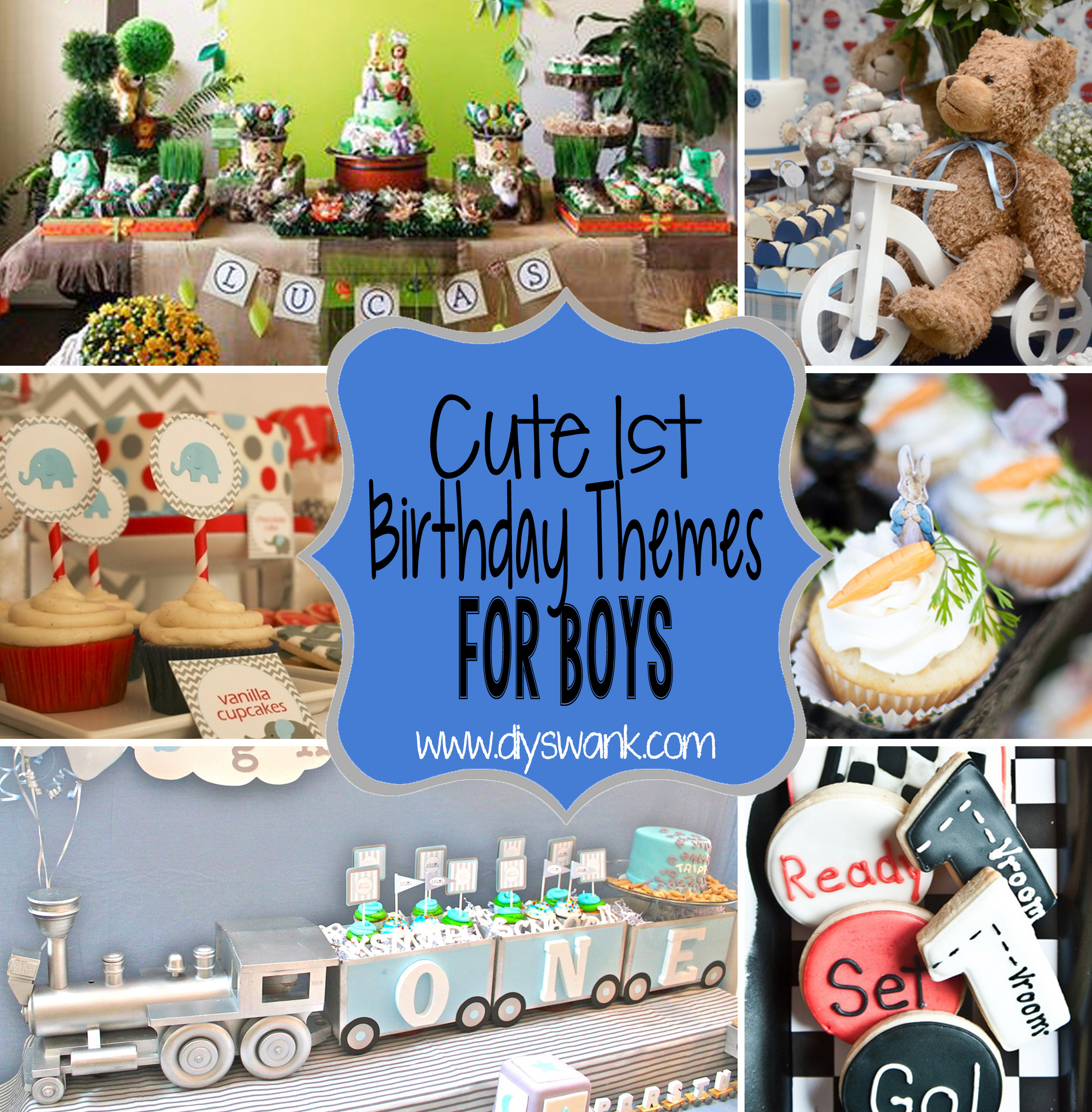 Best ideas about First Birthday Decorations Boys . Save or Pin Cute Boy 1st Birthday Party Themes Now.