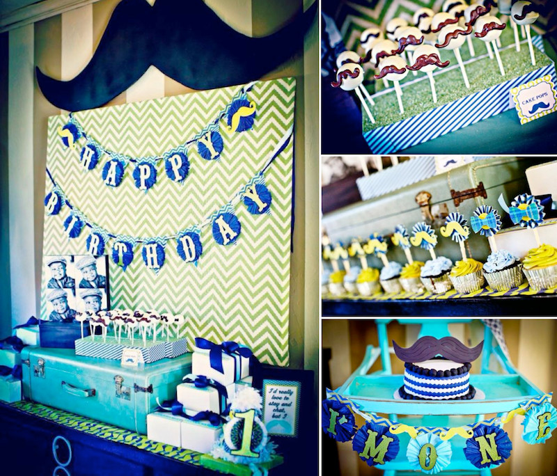 Best ideas about First Birthday Decorations Boys . Save or Pin Kara s Party Ideas 1st Birthday Boy Little Man Mustache Now.