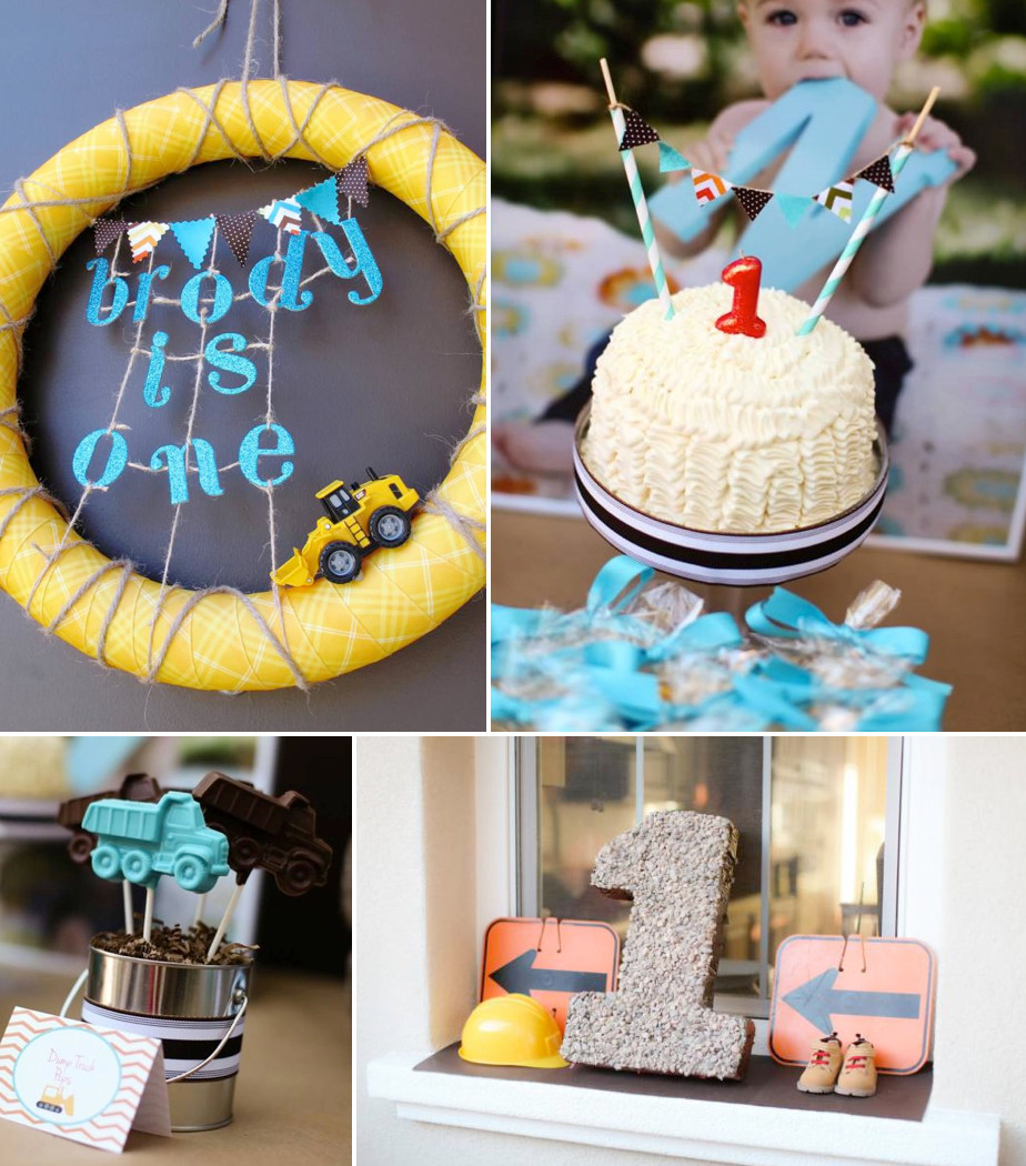 Best ideas about First Birthday Decorations Boys . Save or Pin Kara s Party Ideas Construction Truck Themed 1st Birthday Now.