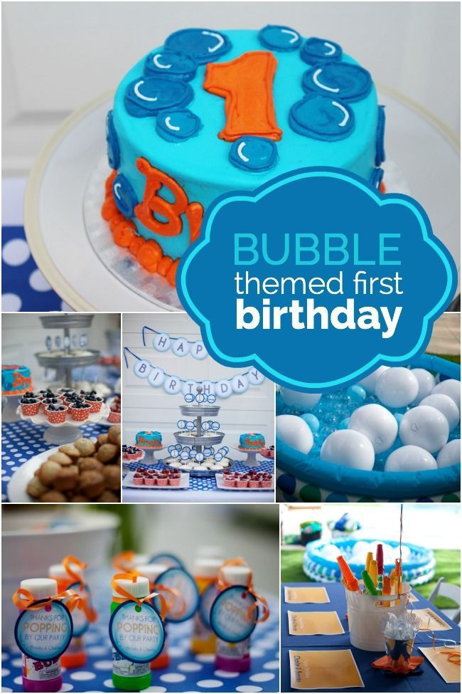 Best ideas about First Birthday Decorations Boys . Save or Pin Bubble Themed First Birthday Party Idea Now.