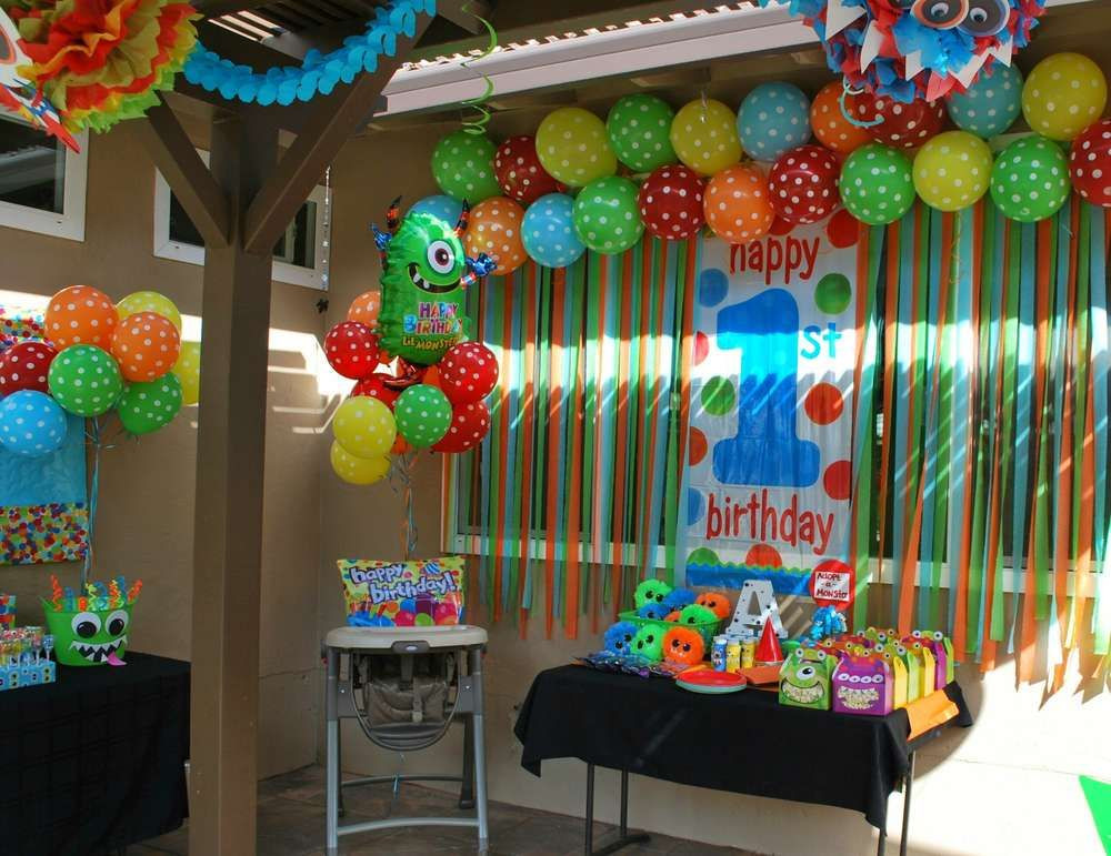 Best ideas about First Birthday Decorations For Boys . Save or Pin Monsters Birthday Party Ideas in 2019 Now.