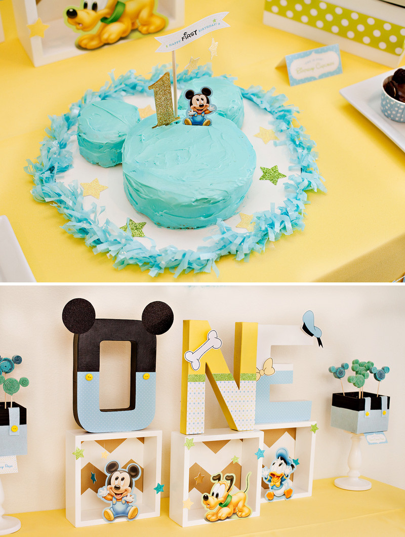 Best ideas about First Birthday Decorations For Boys . Save or Pin Creative Mickey Mouse 1st Birthday Party Ideas Free Now.