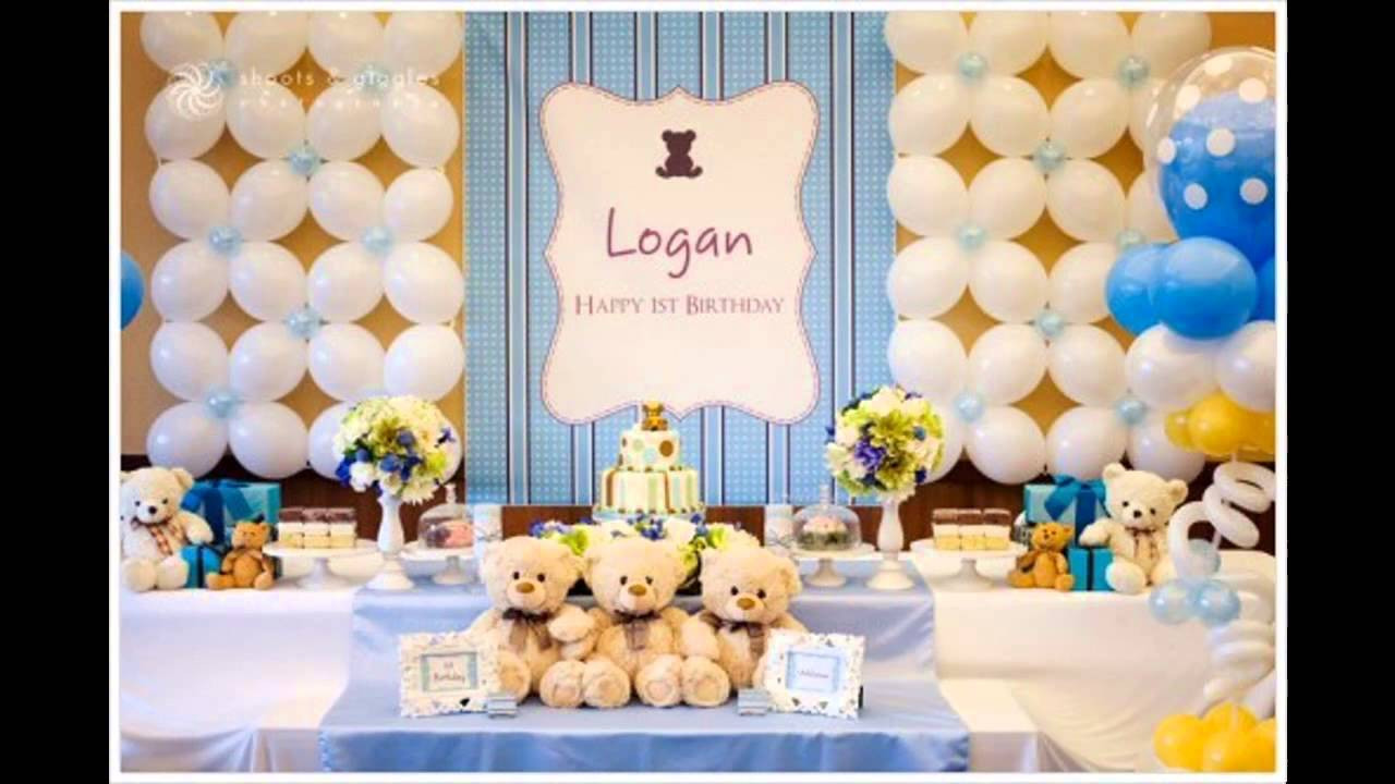 Best ideas about First Birthday Decorations For Boys . Save or Pin 1st birthday party themes decorations at home for boys Now.
