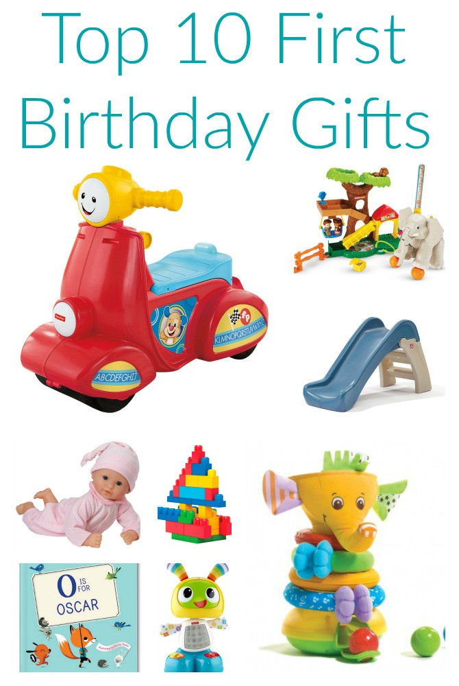 Best ideas about First Birthday Gift Ideas . Save or Pin Friday Favorites Top 10 First Birthday Gifts The Now.