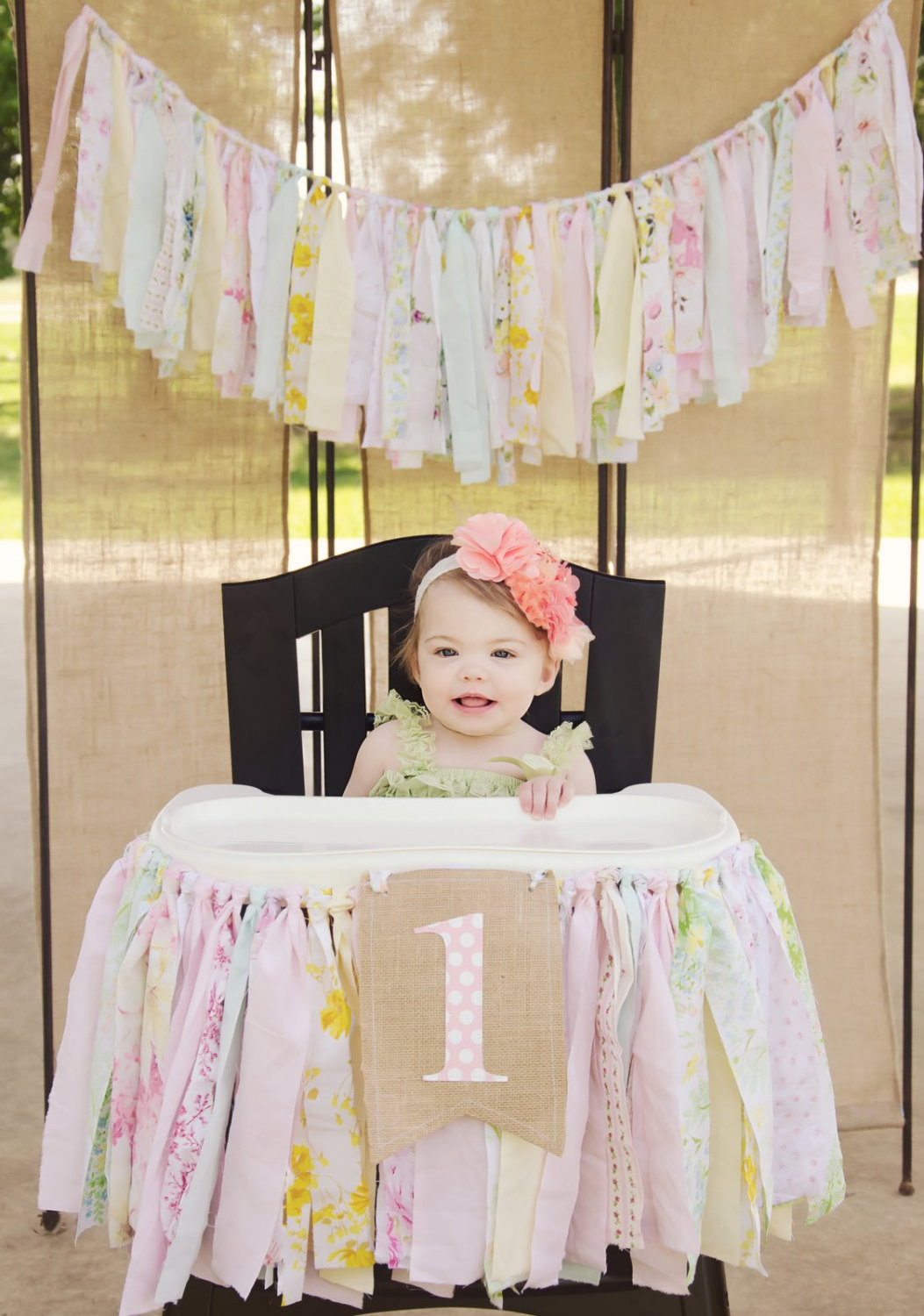 Best ideas about First Birthday Highchair Decorations . Save or Pin Girls High Chair Banner First Birthday Party Supplies Now.