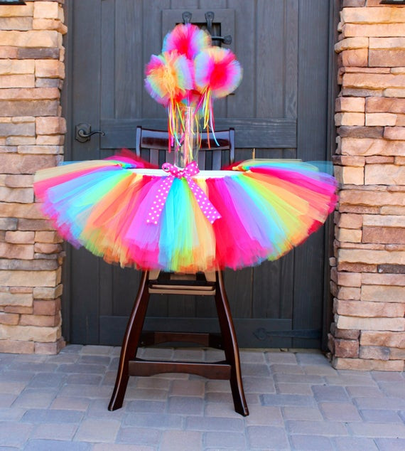 Best ideas about First Birthday Highchair Decorations . Save or Pin Rainbow High Chair Tutu Rainbow Tutu High Chair Decoration Now.