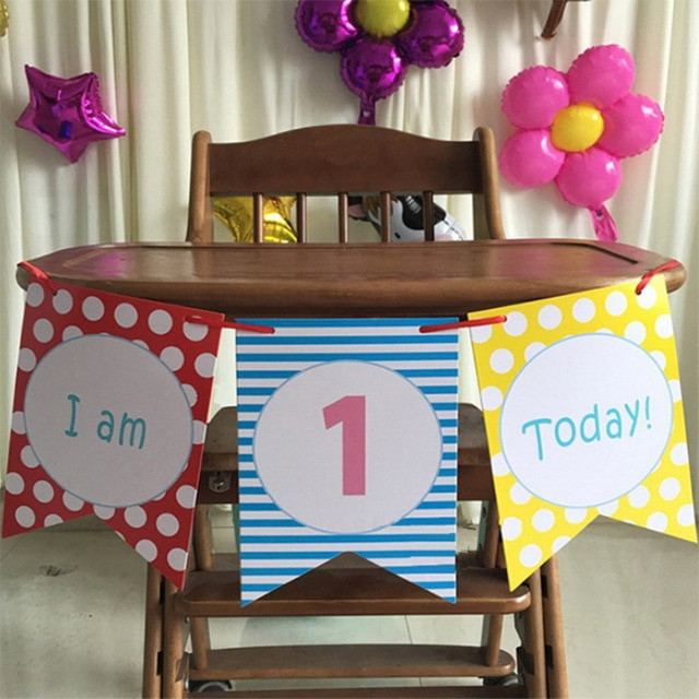 Best ideas about First Birthday Highchair Decorations . Save or Pin Blue Boy s 1st Birthday High Chair Decorating Kit Set Baby Now.