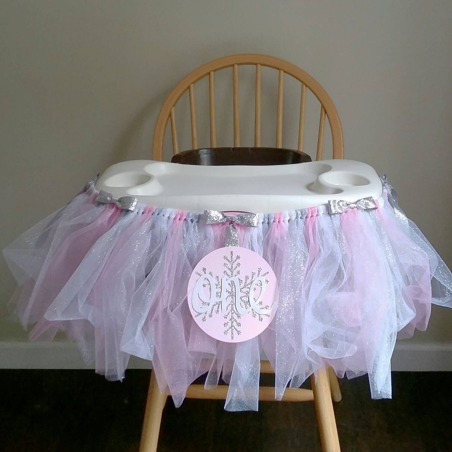 Best ideas about First Birthday Highchair Decorations . Save or Pin First Birthday Highchair Tutu Winter ederland High Chair Now.