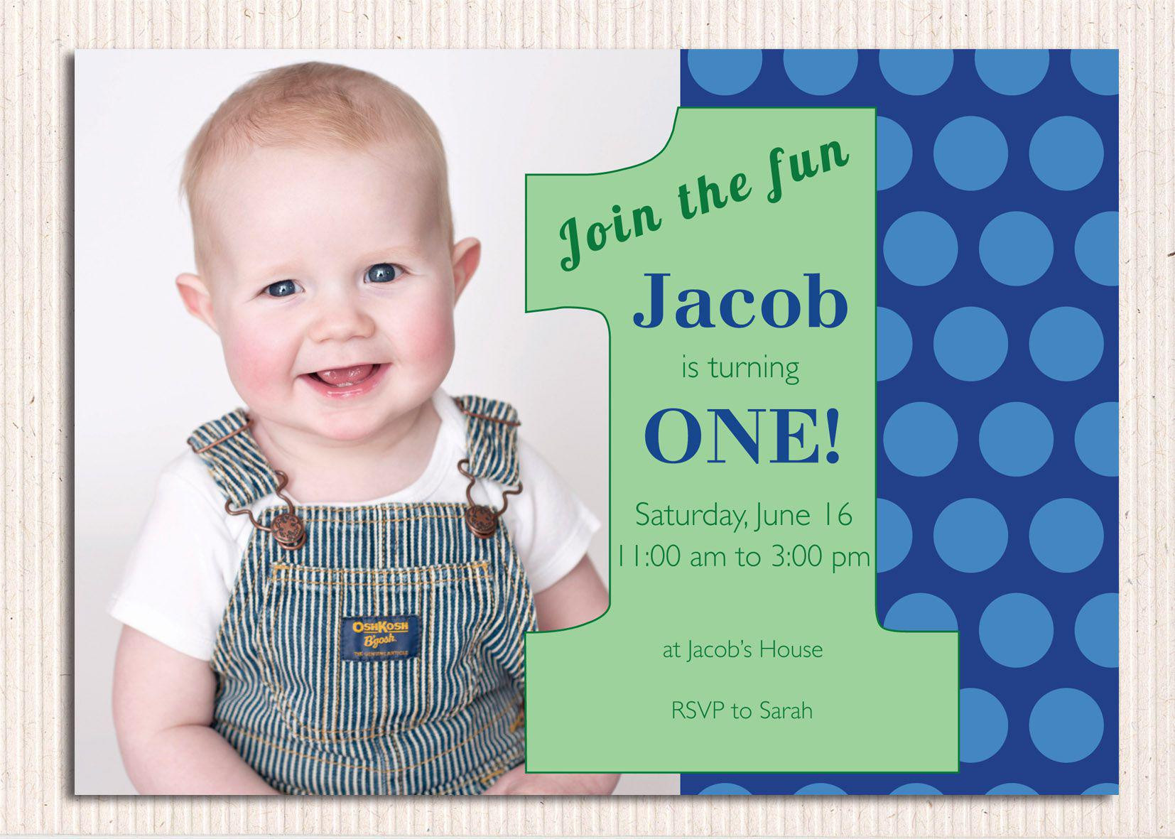 Best ideas about First Birthday Invitations Boy . Save or Pin 16 Best First birthday invites – Printable Sample Now.